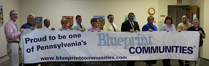 Clarion Borough blueprint ceremony-June 3, 2014